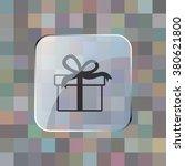 vector icon of modern gift box | Shutterstock .eps vector #380621800