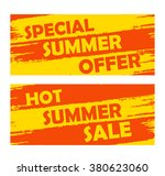 summer special offer and hot... | Shutterstock .eps vector #380623060
