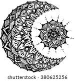 moon and sun on white... | Shutterstock .eps vector #380625256