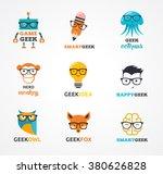 geek  nerd  smart hipster icons ...