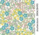 pretty flower vector pattern...   Shutterstock .eps vector #380628490