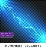 vector sparks.vector electrical ... | Shutterstock .eps vector #380628553