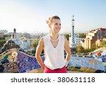 refreshing promenade in unique... | Shutterstock . vector #380631118