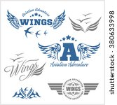 air force shields and labels... | Shutterstock .eps vector #380633998