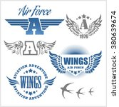 air force shields and labels... | Shutterstock .eps vector #380639674