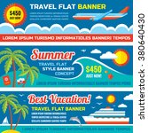 summer travel   decorative... | Shutterstock .eps vector #380640430