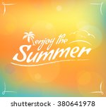 summer warm bokeh card | Shutterstock . vector #380641978