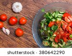 fresh couscous salad with... | Shutterstock . vector #380642290