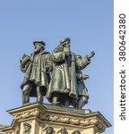 the johannes gutenberg monument ... | Shutterstock . vector #380642380