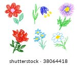 flowers icons | Shutterstock . vector #38064418