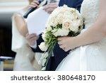 beauty bride and handsome groom ... | Shutterstock . vector #380648170