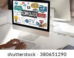 technology the cloud online... | Shutterstock . vector #380651290