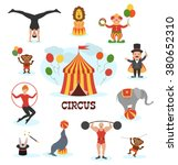 circus flat design collection... | Shutterstock .eps vector #380652310