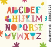 bright abc for kids. | Shutterstock .eps vector #380653528