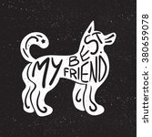 vintage hand drawn lettering... | Shutterstock .eps vector #380659078