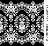 seamless lace pattern  flower... | Shutterstock .eps vector #380660416