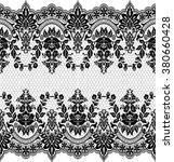 seamless lace pattern  flower...   Shutterstock .eps vector #380660428