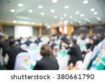 blur of business conference and ... | Shutterstock . vector #380661790