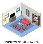 vector isometric furniture | Shutterstock .eps vector #380667376
