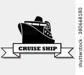 cruise ship. vector icon | Shutterstock .eps vector #380668180