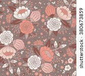 seamless vintage pattern with... | Shutterstock . vector #380673859