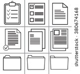 office documents icons.paper... | Shutterstock .eps vector #380674168