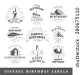 set of birthday labels.... | Shutterstock .eps vector #380675110