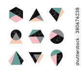 set of icons  geometric logo... | Shutterstock .eps vector #380676238