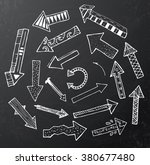 hand drawn arrow icons set on... | Shutterstock . vector #380677480