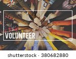 volunteer voluntary...   Shutterstock . vector #380682880