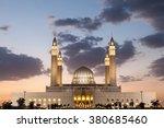 grand mosque in nizwa...   Shutterstock . vector #380685460