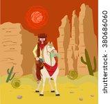cowboy on horseback   Shutterstock .eps vector #380686060