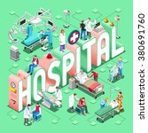 hospital healthcare infographic.... | Shutterstock . vector #380691760