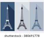 eiffel tower. isolated object.... | Shutterstock .eps vector #380691778