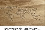 the world map  | Shutterstock . vector #380693980