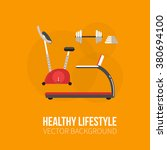 sport equipment flat banner... | Shutterstock .eps vector #380694100