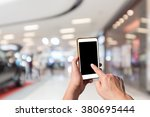 touch screen mobile phone  in... | Shutterstock . vector #380695444