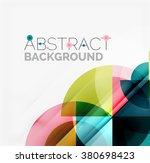 geometric design abstract... | Shutterstock .eps vector #380698423