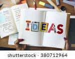 ideas creative art design word... | Shutterstock . vector #380712964