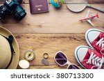 tourism planning and equipment... | Shutterstock . vector #380713300