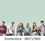 friends connection digital... | Shutterstock . vector #380717860
