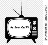 vintage tv  as seen on tv | Shutterstock .eps vector #380722414