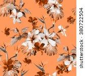 Tropical Floral Print. Clip Ar...