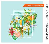 floral graphic design  ... | Shutterstock .eps vector #380727130
