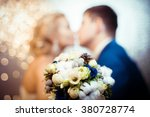 shadows of the bride and groom. ... | Shutterstock . vector #380728774