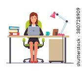 business woman or a clerk... | Shutterstock .eps vector #380728909