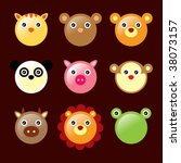 animals icons in brown | Shutterstock .eps vector #38073157