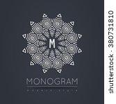 elegant linear abstract... | Shutterstock .eps vector #380731810