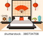Bedroom In The Japanese Style....