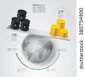 global business oil price scale ... | Shutterstock .eps vector #380734900